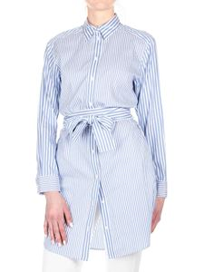 Michael Kors - Striped shirt dress in light blue and white