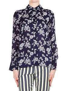 Michael Kors - Floral printed shirt in navy blue