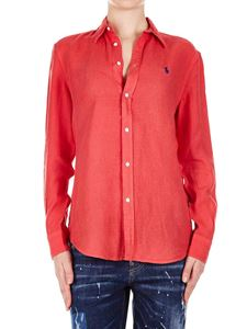 POLO Ralph Lauren - Red linen shirt with logo