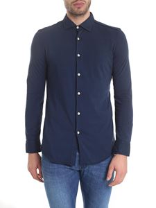 Drumohr - Biscottino shirt in blue