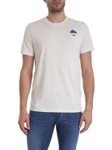 The North Face - T-shirt with logo in cream-color