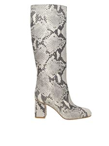 Red Valentino - Reptile effect leather boots