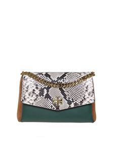 Tory Burch - Kira Exotic bag with reptile effect flap and back