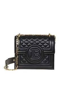 Balmain - B-bag 21 shoulder bag in black leather