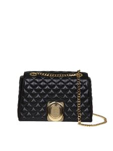 Balmain - Signet Bag shoulder bag in black leather