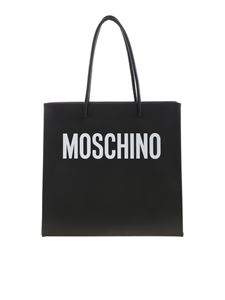 Moschino - Logo shopping bag in black