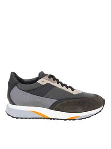 Santoni - Sneakers in multicolor leather and fabric