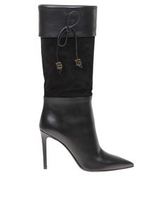 Balmain - Mina boots in black leather and suede