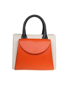 Marni - Law Bag small in ivory and orange