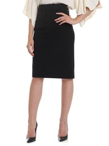 Red Valentino - Pencil skirt in stretch wool blend