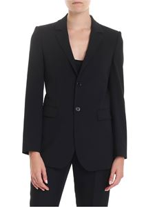 Red Valentino - Blazer in frisottino stretch nero