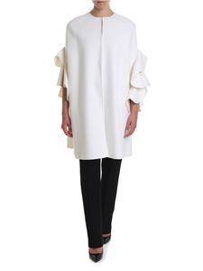 Valentino - Cashmere wool blend cape in ivory-color