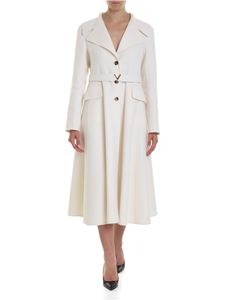 Valentino - Double Kashmir coat in white