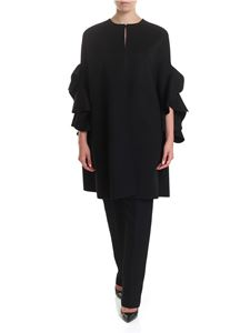 Valentino - Compact Drap cape in black