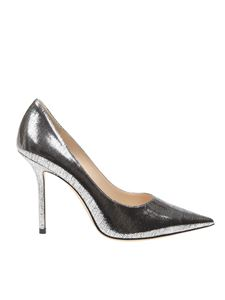 Jimmy Choo - Love 100 pumps in silver leather