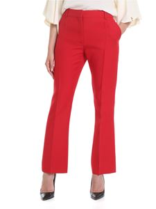 Valentino - Crepe Couture trousers in red
