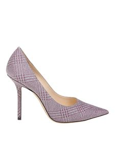 Jimmy Choo - Love 100 pumps in pink and silver fabric