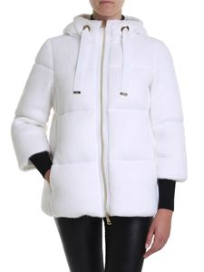 Herno - Resort padded jacket in white with teddy effect