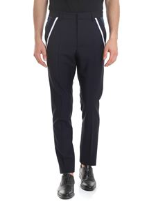 Valentino - Tailored trousers in blue with side stripe
