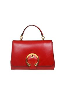 Jimmy Choo - Borsa a mano Madeline TopHandle in pelle rossa