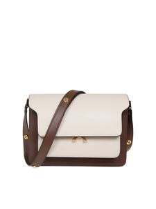 Marni - Trunk bag in brown and ivory leather