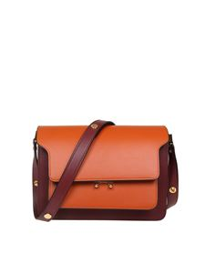 Marni - Trunk bag in cherry and orange leather