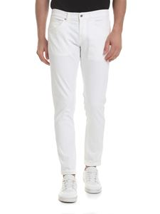 Dondup - George 5 pocket trousers in white