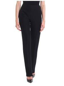 Valentino - Straight silk blend trousers in black