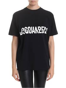 Dsquared2 - DSQUARED2 decomposed printed t-shirt in black