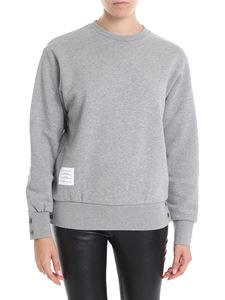 Thom Browne - Crewneck sweatshirt in grey