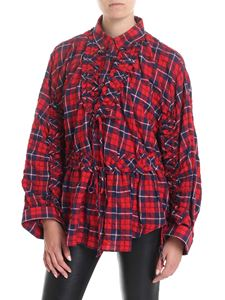 Dsquared2 - Red and blue checked blouse