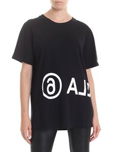 MM6 by Maison Martin Margiela - MARGIELA6 printed t-shirt IN black
