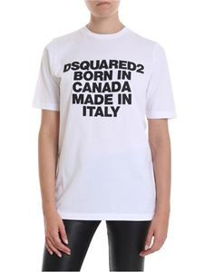 Dsquared2 - White T-shirt with lettering print