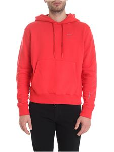 Off-White - Diag Unfinished Slim hoodie in red