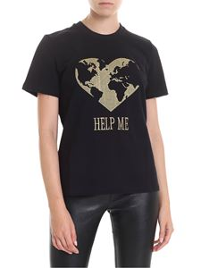 Alberta Ferretti - Help Me regular fit t-shirt in black