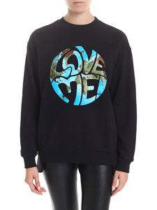 Alberta Ferretti - Love Me oversize sweatshirt in black