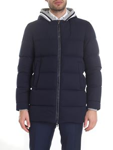Herno - Resort hooded down jacket in blue
