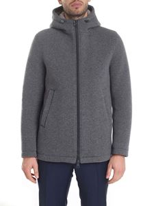 Herno -  Resort jacket in melange gray