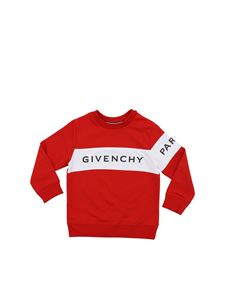 Givenchy - Red sweatshirt with white band