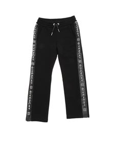 Givenchy - Black tracksuit pants with logo bands