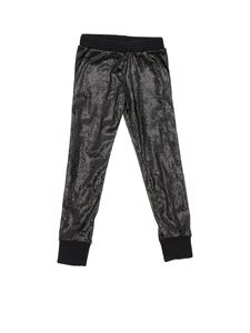 MSGM - Sweatpants in black sequins