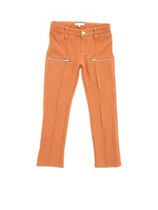 Chloé - Sweatpants with zip in rust color