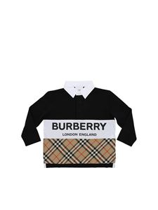 Burberry - Quentin long sleeve polo in black