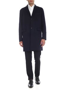 Valentino - Rockstud Untitled single-breasted coat in blue