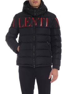 Valentino - VALENTINO short down jacket in black with hood