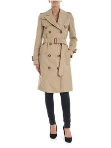 Burberry - Leather D-ring Detail Trench Coat in beige
