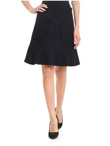 Red Valentino - Hearts patched skirt in black