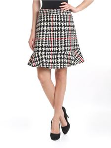 Red Valentino - Houndstooth skirt in black and white