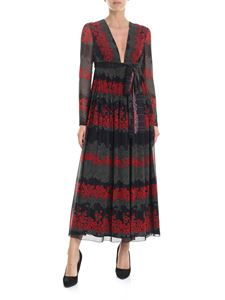 Red Valentino - Dreaming Peony long dress in black