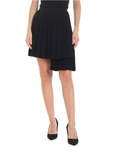 Ermanno Scervino - Pleated asymmetrical skirt in black
